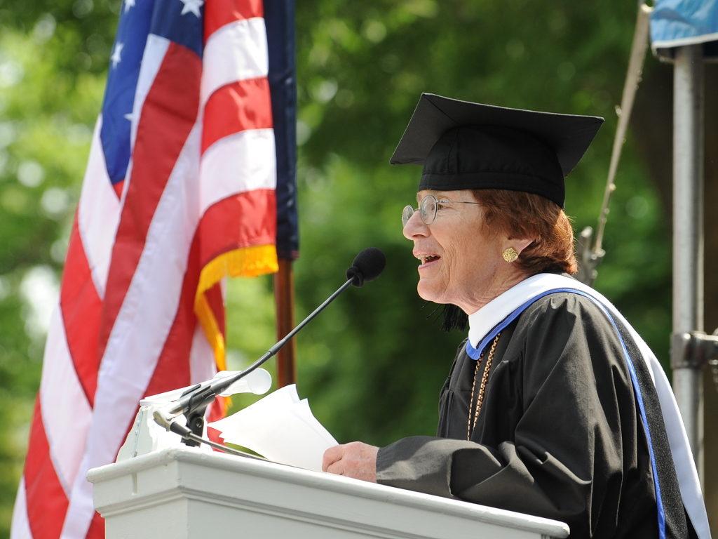 Diana Davis Spencer Speaks at Commencement