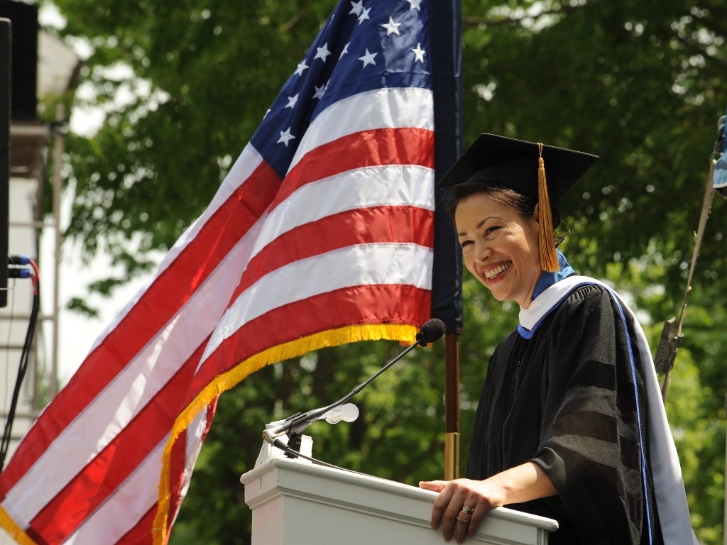 Ann Curry Speaks at Commencement