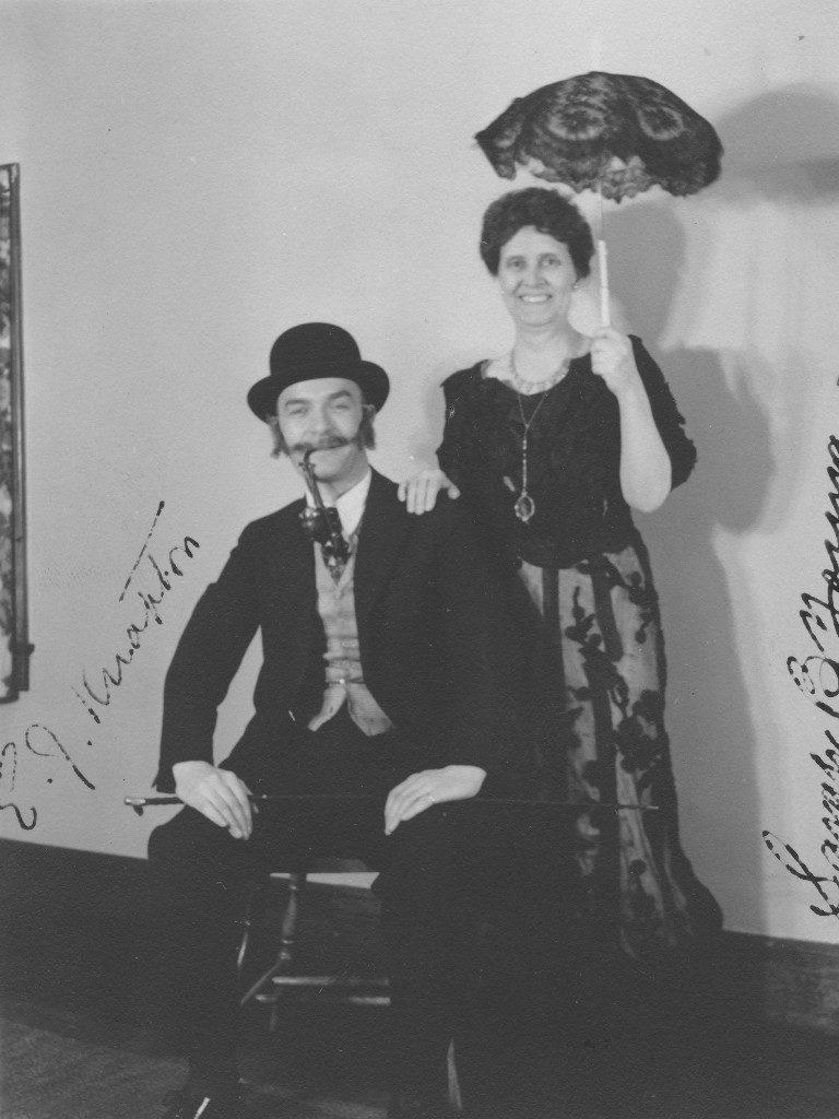 John Knapton and Sarah Young at Centennial Costume Party