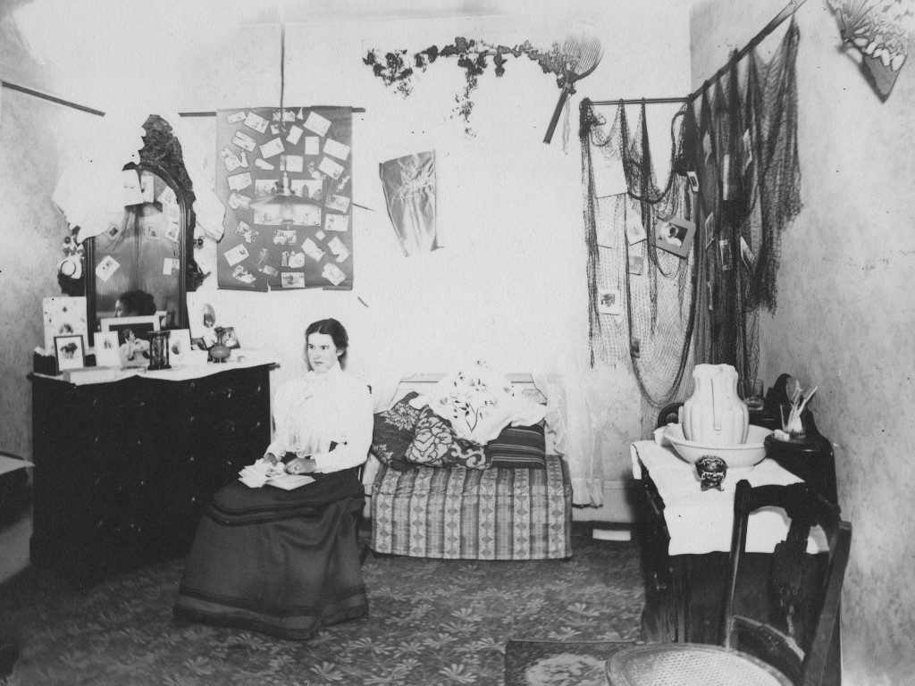 Student in a Boarding House dorm room