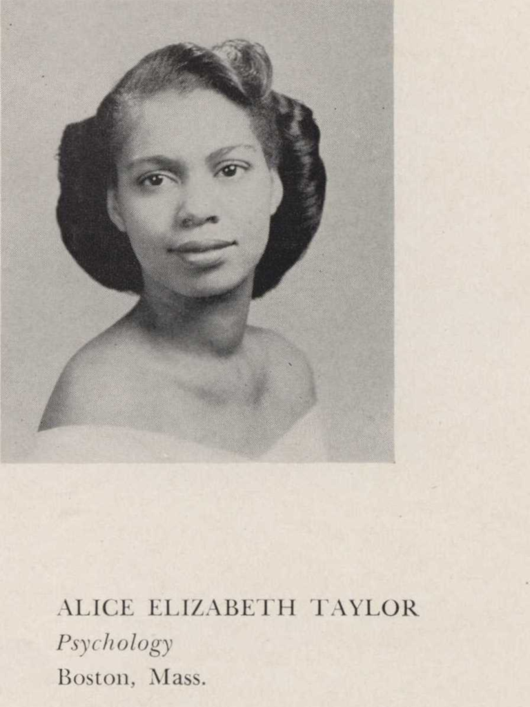 Alice Elizabeth Taylor, Psychology, Boston, Mass.