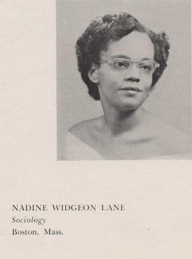 Nadine Widgeon Lane, Sociology, Boston, Mass.